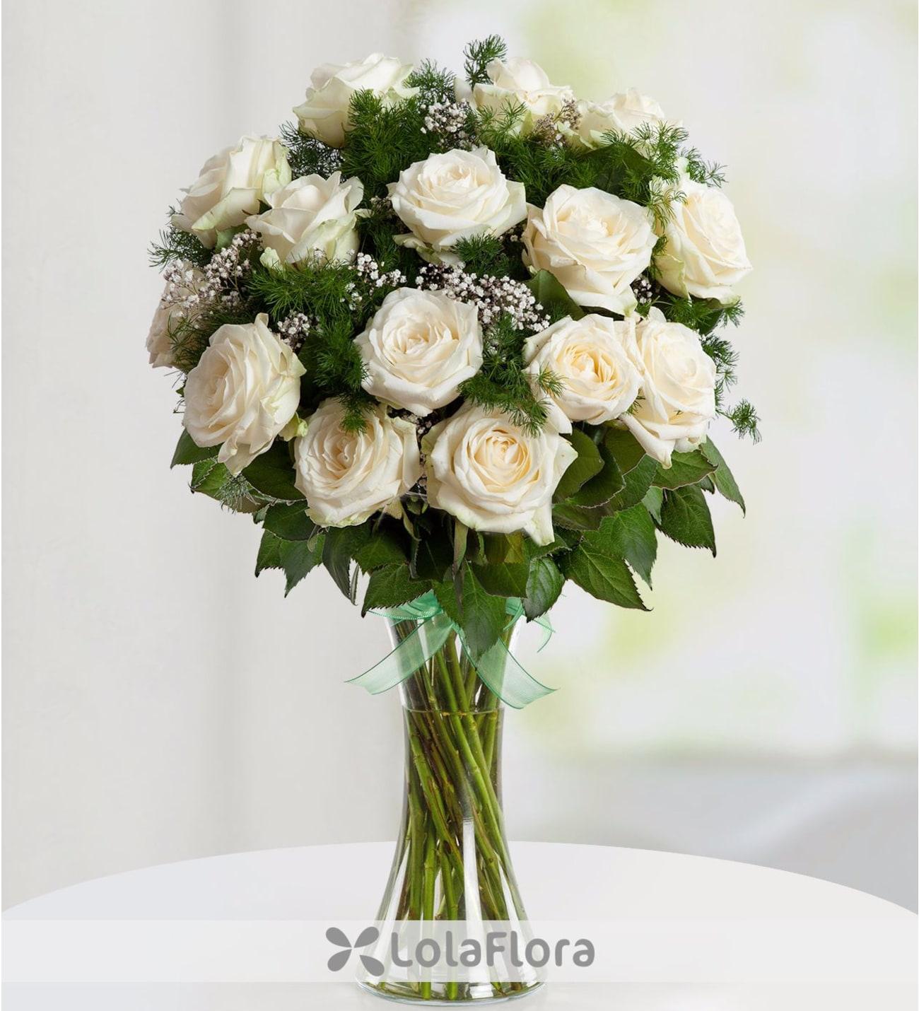 15 Rosas Blancas Danza De Nubes