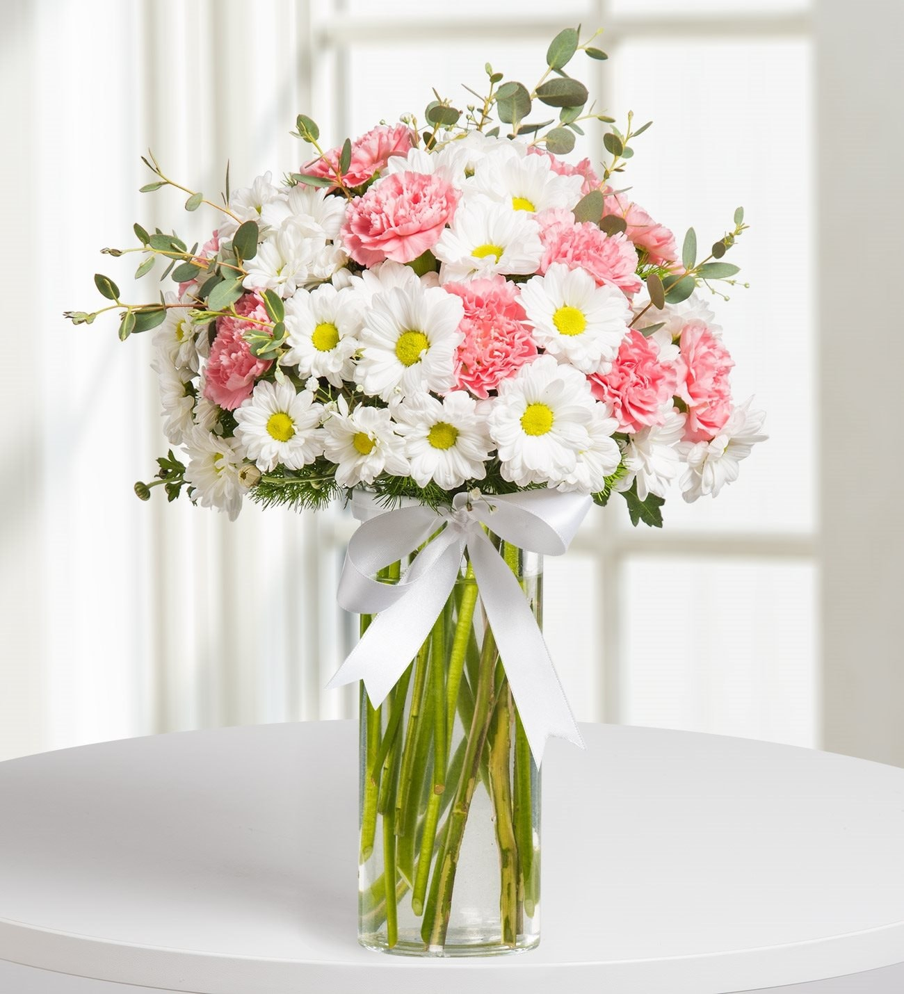 6990fba65b20d Pink Dream Daisy and Carnation Arragement kc143526