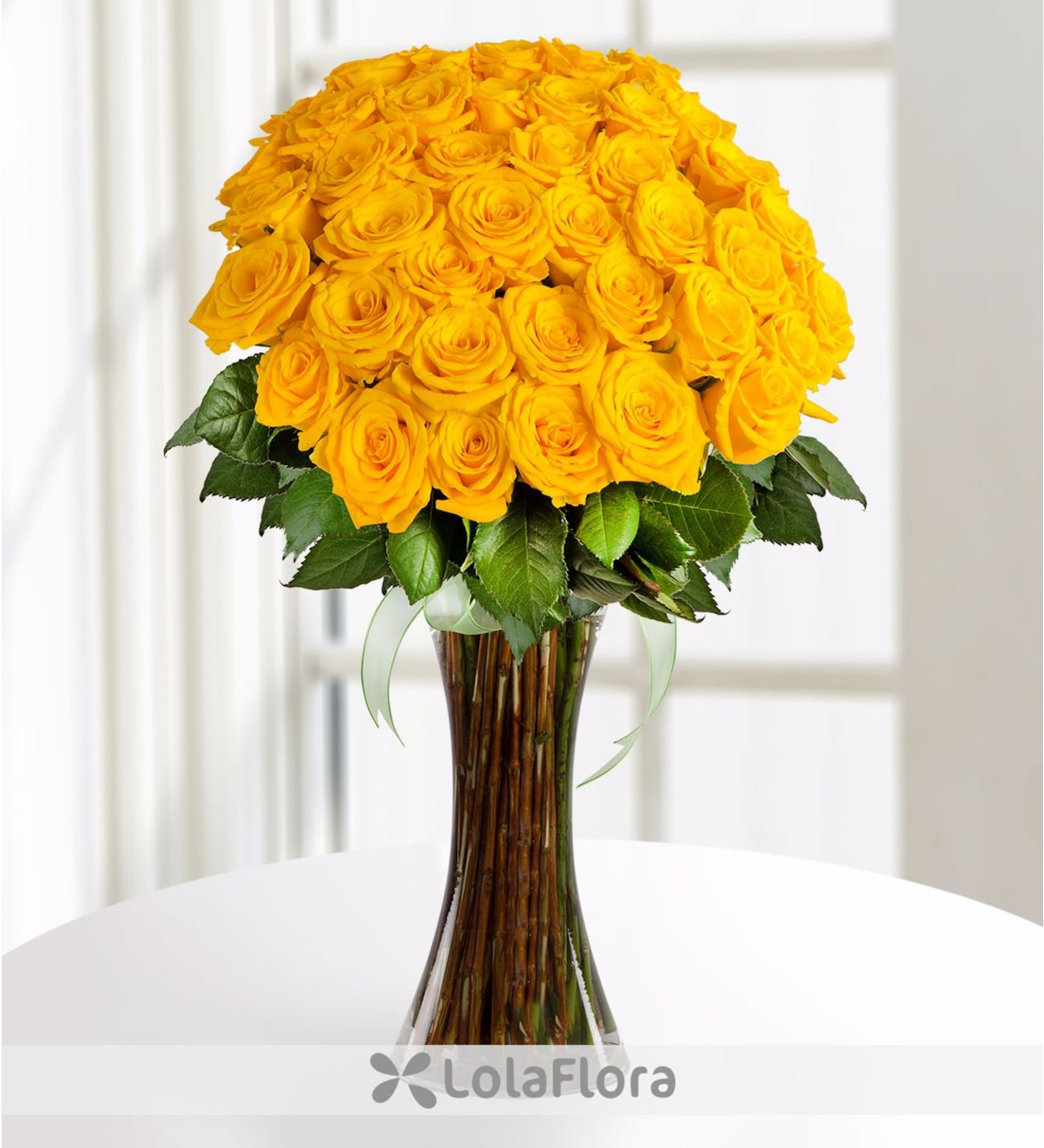 Autumn Sun Bunch Of 41 Yellow Roses Lolaflora