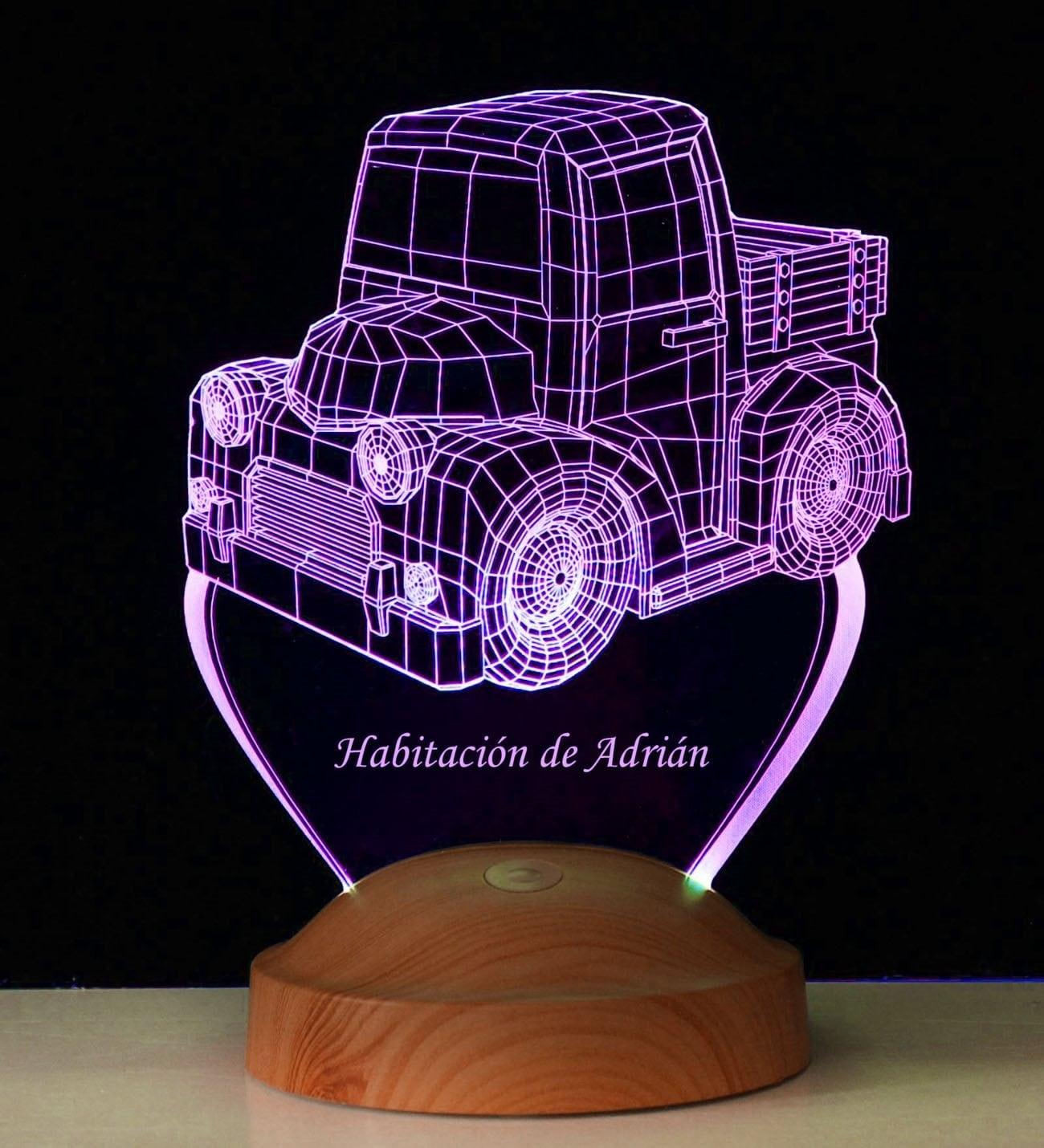 personalizada Lámpara LED habitación infantil para 3D srxthBQCd
