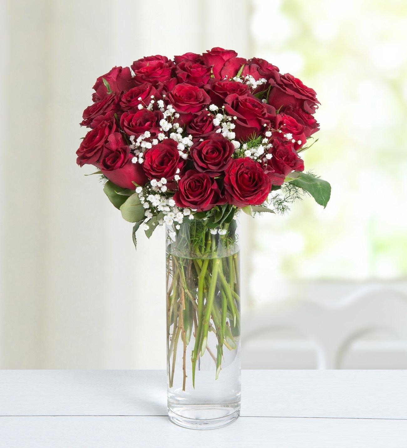 24 Rosas Rojas Amor Eterno