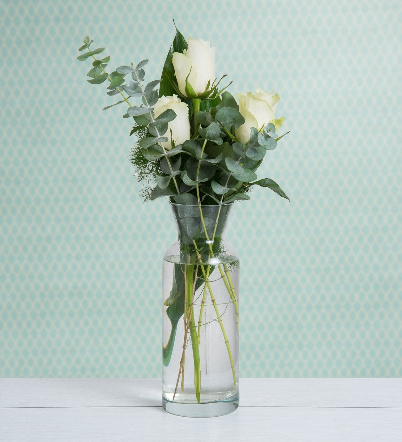 Trío 3 Rosas Blancas