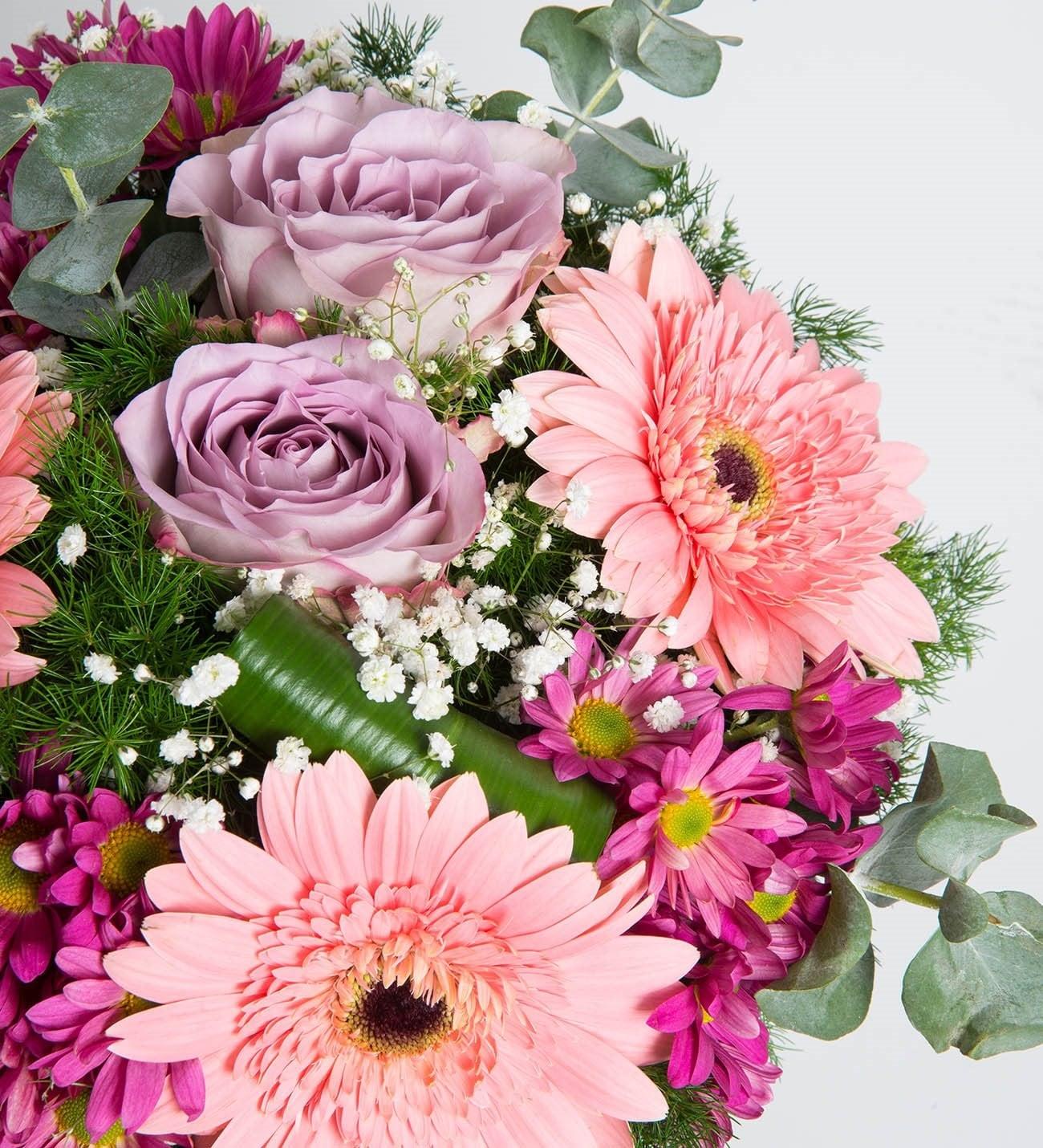 Gerberas Rosas Y Margaritas Colores Cálidos