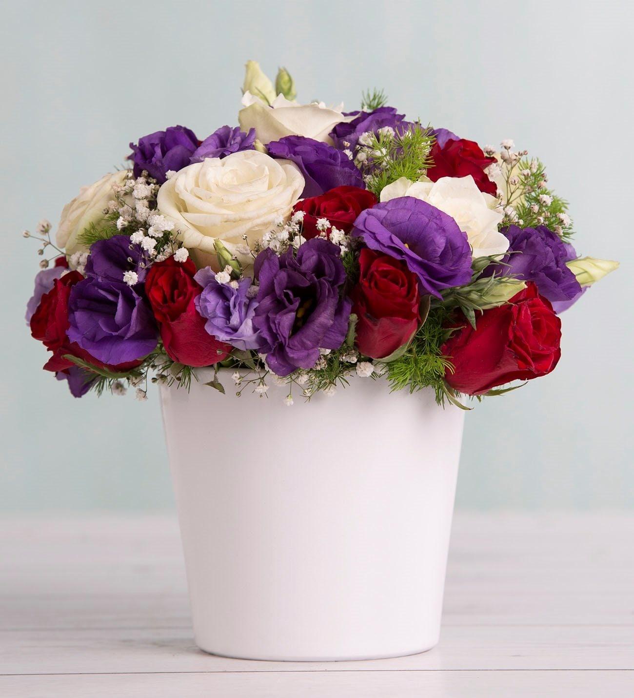 Rosas Y Lisianthius Preciosidad