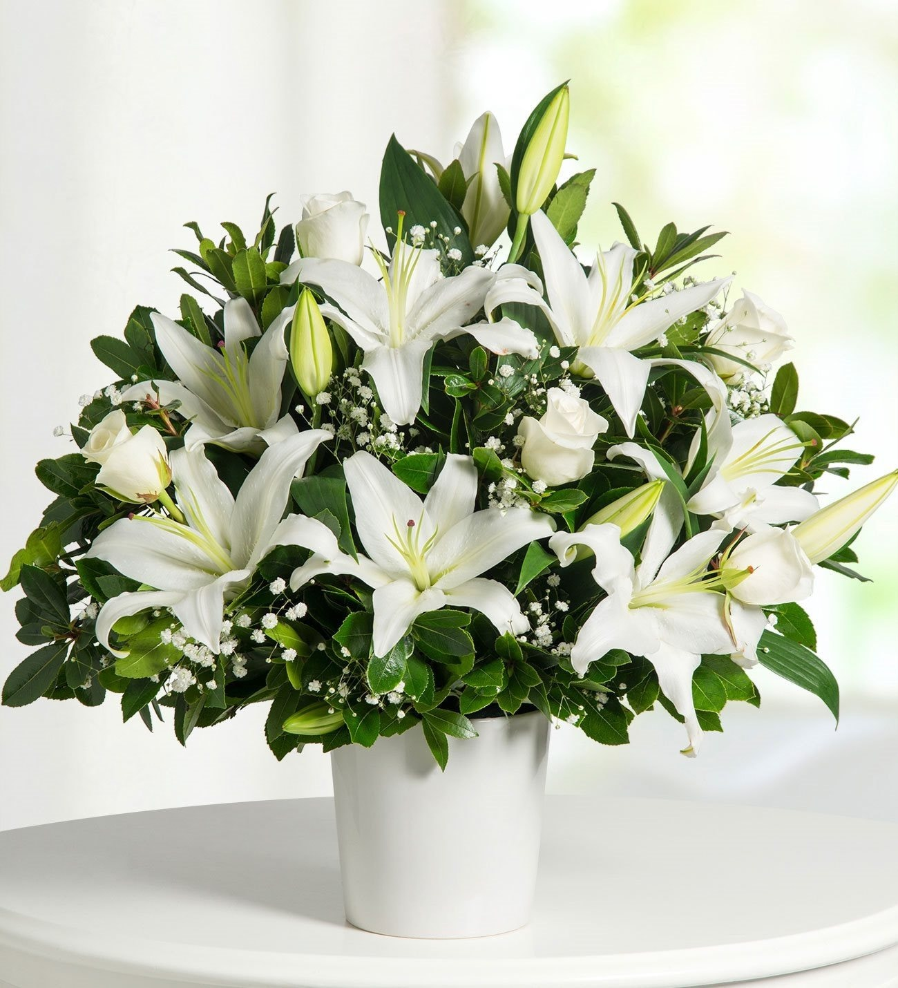 Shop Now For The Bouquet Of Lilies And Roses Peaceful Hug