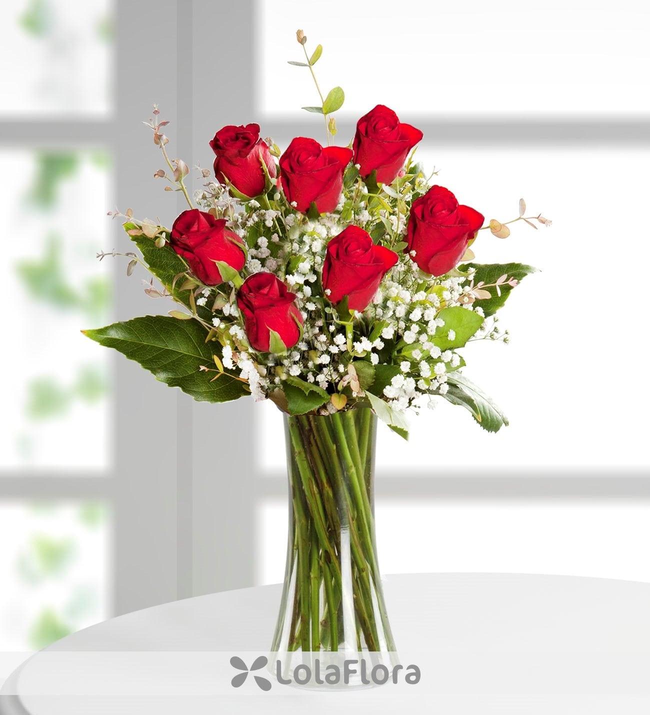 7 Rosas Rojas Amor Mágico Amor Perfecto Lolaflora