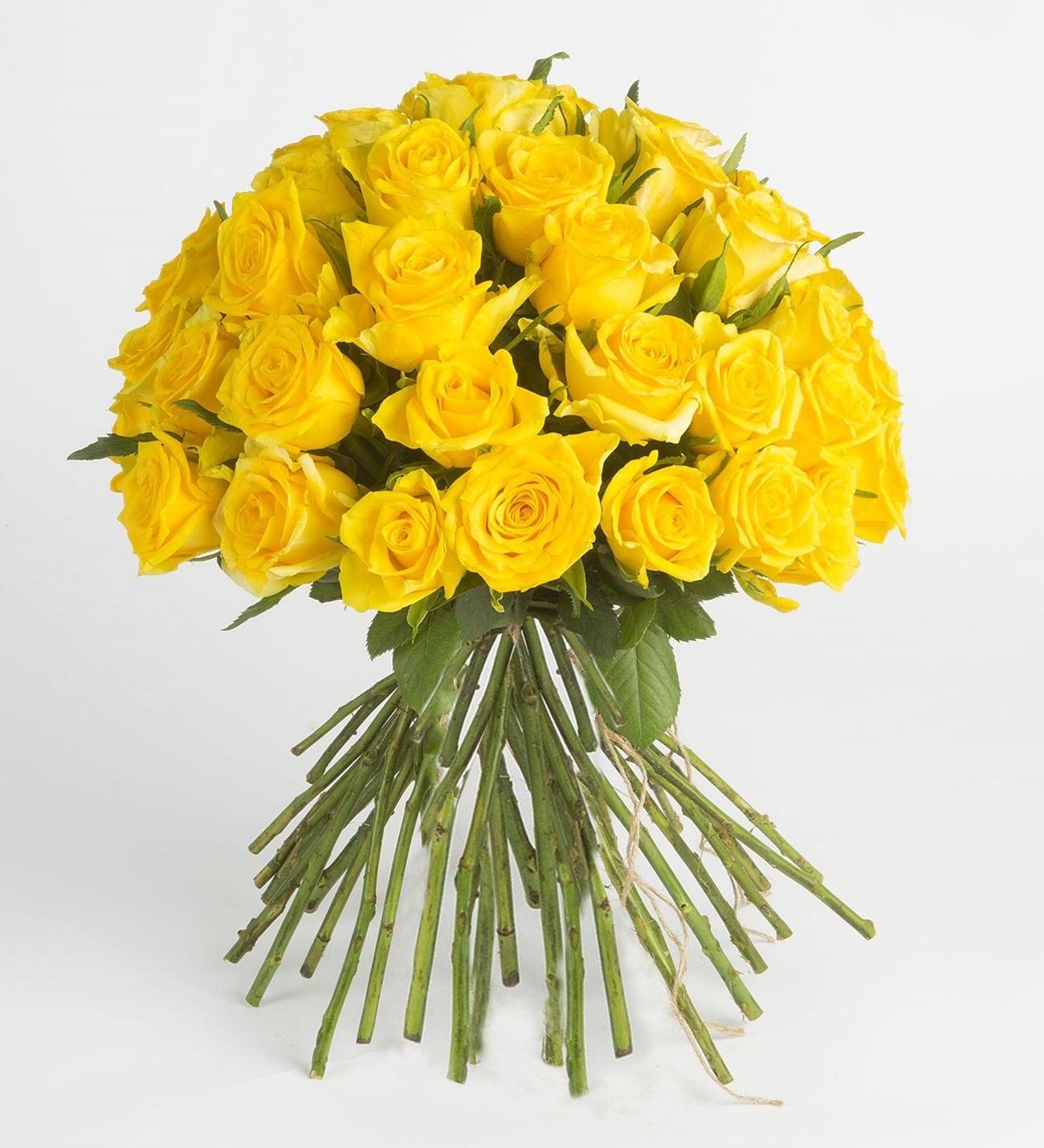Amarillo Canario Ramo De Rosas Amarillas