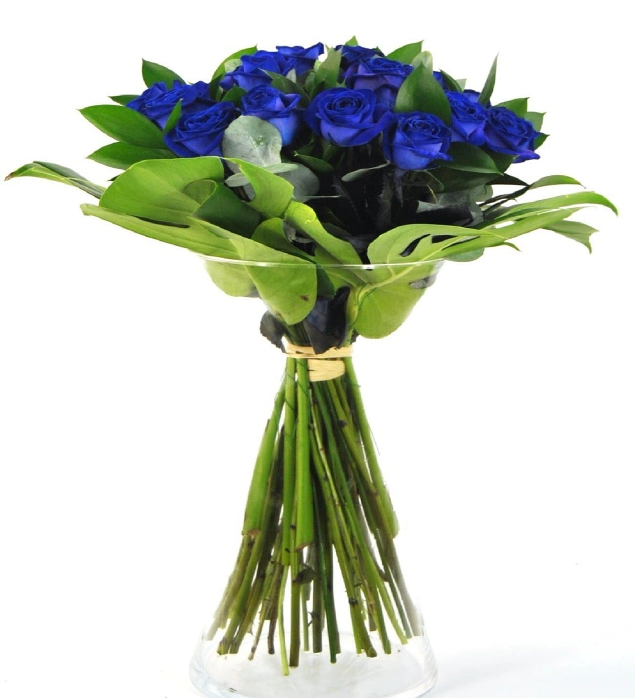 Buy Now Blue Roses Stunning Blue Rose Bouquet On Lolaflora
