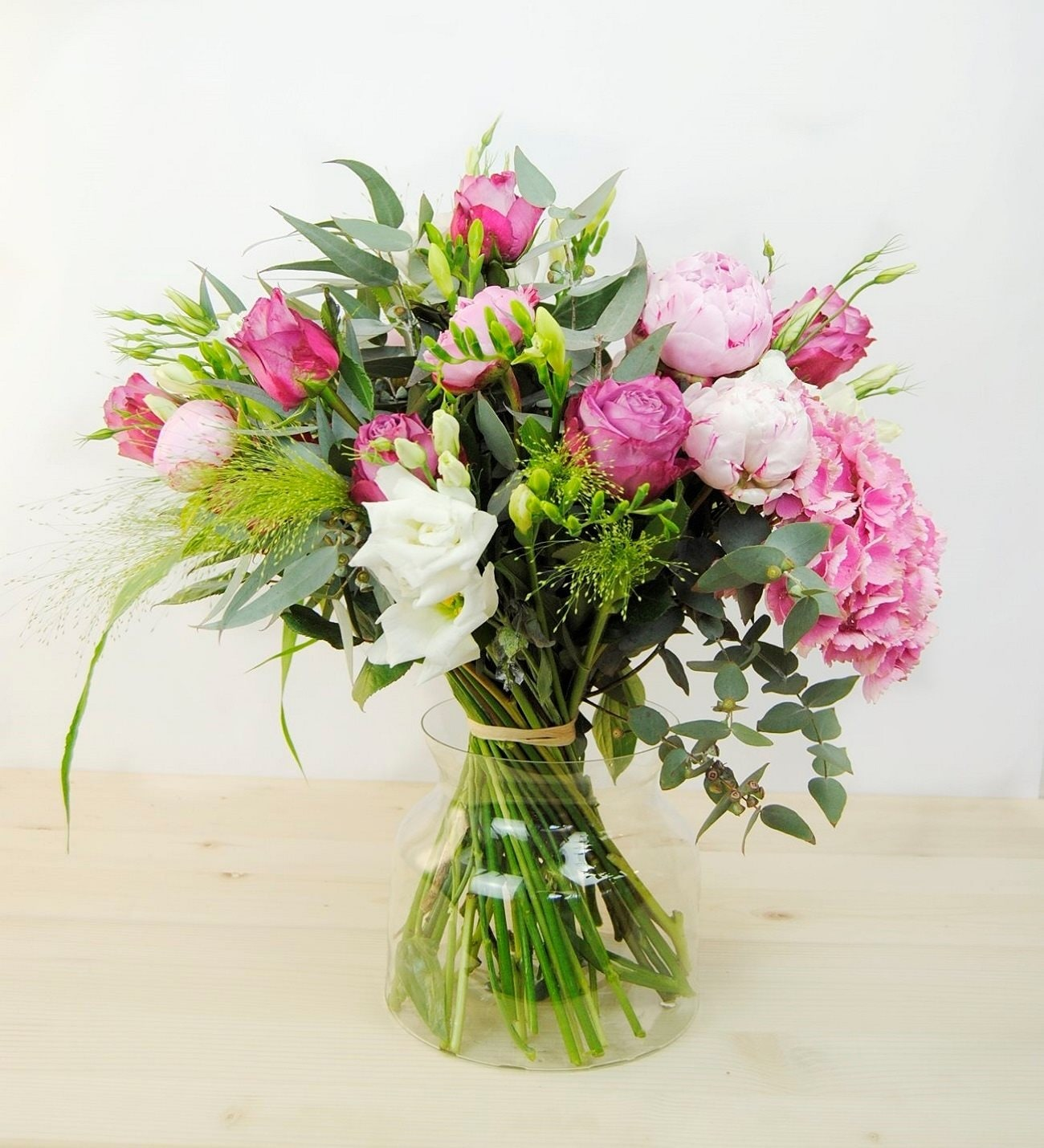Paradise Bouquet Of Peonies Freesias Roses Hydrangeas A